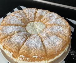 Käse Sahne Torte mit  Eierlikör