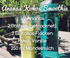 Ananas Kokos Smoothie (vegan)