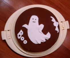 Halloween Kürbis Kuchen - Variation vom Ruck-Zuck-Kuchen