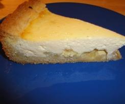 Käsekuchen mit Rhabarber nach Mamas Rezept