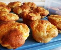 Quark-Pfirsich-Muffins