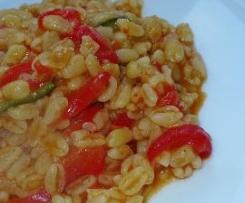 Zartweizen mit Mais und Kidneybohnen