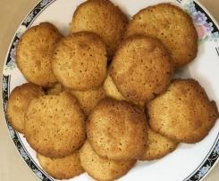 Butter-Knusper-Cookies mit weißer Schokolade
