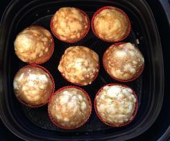 Low Carb Pizza-Muffins mit Käse im Airfryer