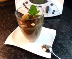 Variation von Schokoladenpudding Eiscafe/Nougat-Batida de Coco!