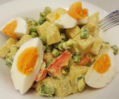 Kohlrabi-Curry-Salat (Falscher Kartoffelsalat) Low Carb, LOGI