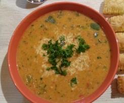 Paprika - Grünkernsuppe vegan