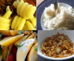 Basis - Rezepte Pasta / Reis / Kartoffeln / Zwiebeln / Speck