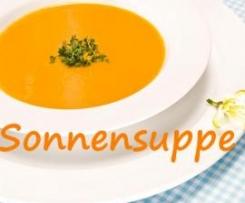 Variation von Karottensuppe (Sonnensuppe)