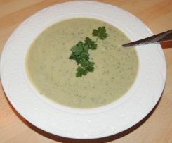 Zucchini Cremesuppe WW
