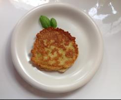 Variation Zucchinipfannkuchen / Zucchinipuffer Rezept d. Tages 10.02.2017