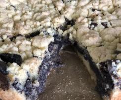 Mohnkuchen mit Streusel vegan Eifrei Laktosefrei Mohn für Maren 💖