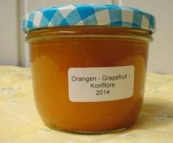 Orangen - Grapefruit - Konfitüre