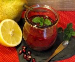 Birnen Marmelade mit Granatapfel