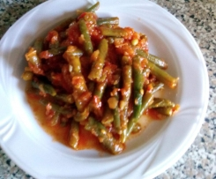 Grüne-Bohnen- Gemüse