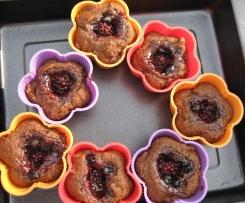 Vegane Kastanien-Muffins, mit Aprikosen oder Brombeeren oder...