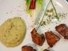 Gerrys in Zaubermarinade gereifte Hühnchenbrust mit feinem Kartoffel-Zucchini-Püree