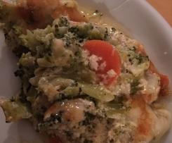 Gemüseauflauf mit Spitzkohl und Brokkoli