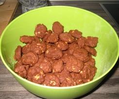 Erdnuss Kakao Cookies einfach und knackig