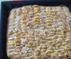 Obstblechkuchen aus Mürbeteig