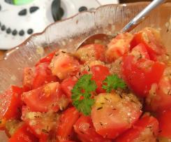 Tomatensalat mit warmen dressing