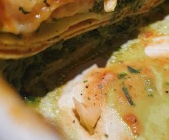 Variation Lachs-Spinat-Lasagne