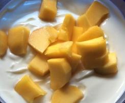 Quark mit Mango (figurfreundlich)
