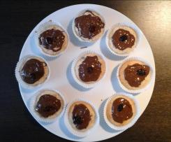 Muffins mit Creme Fraîche - Mandeln - Äpfel