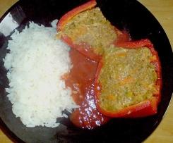 Gefüllte Paprika -vegetarisch- mit Grünkern