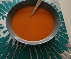Süßkartoffel Paprika Tomaten Suppe