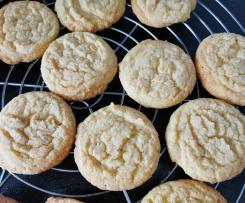 Vanillepudding-Kekse mit weißer Schokolade (Custard and white chocolate cookies)