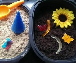 Sandkasten und Blumenerde leicht und mal anders
