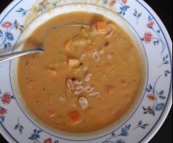 Südafrikanische Erdnusssuppe