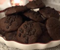 Zartbitter Schokoladen-Cookies