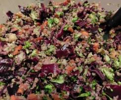Couscous-Rotkohl-Brokkoli-Salat