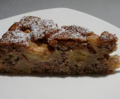 Schoko-Mandel-Kuchen mit Äpfeln und Zimt