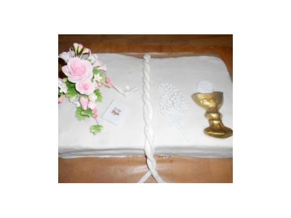 Variation Von Spanischer Blechapfelkuchen Kommunion Taufe Torte