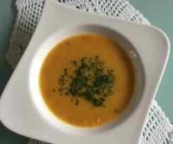 Karottensuppe mit Holsteiner Katenschinken