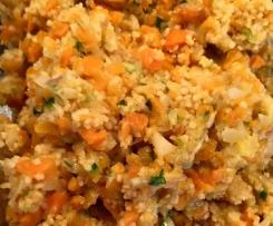Gemüse Couscous mit Avocado (vegan)