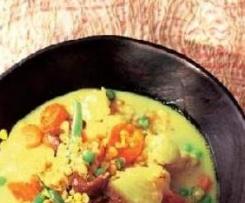 Indisches Gemüse Curry mit Linsen