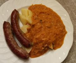 Sauerkraut mit Champignons