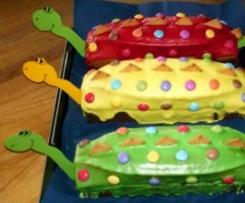 Dinosaurierkuchen für Kindergeburtstag