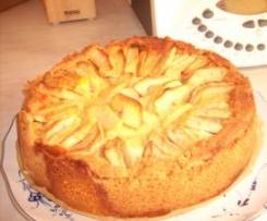 Apfelkuchen-mit Sahne Puddingguss...