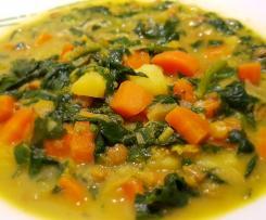 Indisches Linsen-Gemüse-Gericht