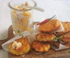 Kartoffeltaler mit Mango-Joghurt-Salsa nach SiS