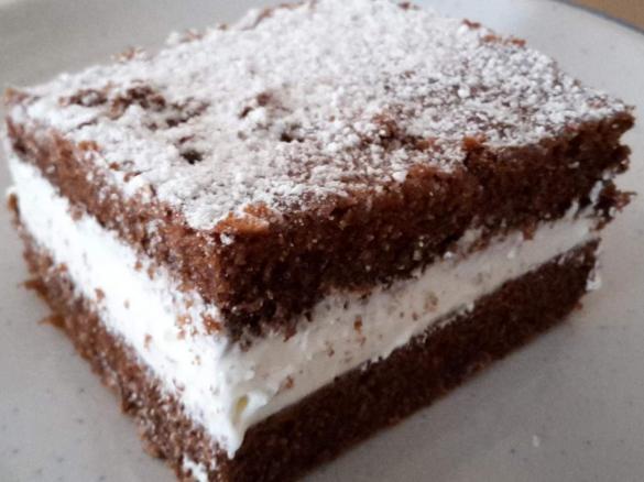 Schokoschnitte Mit Joghurtsahne Fullung Blechkuchen Von Frido68