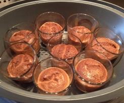 Schokoladen-Amaretto-Flan (glutenfrei, Tupper)