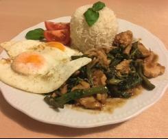 Thai Pad Grapao (sehr scharf!)