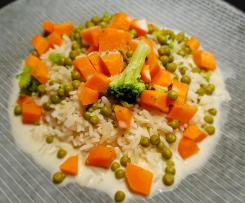 Gemüsereis in samtiger Sauce