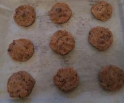 Gefüllte Nutella-Cookies